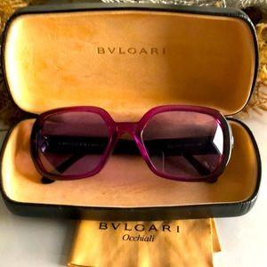 Bvlgari Pink/ Purple Sunglasses 🕶 Octagon Shape